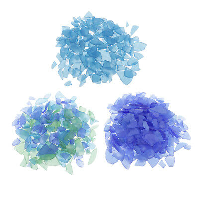 Bulk 500g DIY Crafts Sea Glass Frosted Clear Beach Glass for Jewelry Making