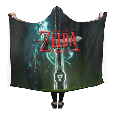 New Popular Custom Legend of Zelda Wearable Durable Hooded Blanket 80x53 inch