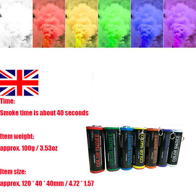 Colorful Smoke Effect Pull Ring Show Bomb Photography Prop Aid Pop Tube Lot