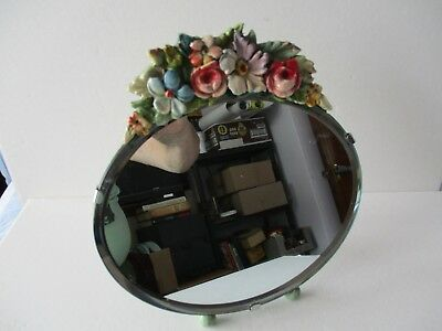 VINTAGE OVAL BARBOLA MIRROR - SUPERB 1930's QUALITY