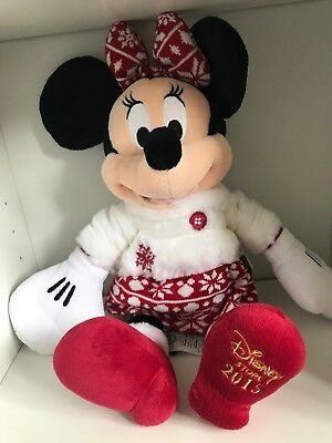 Genuine Disney Store Minnie Mouse 2015 Collectable Plush New With Tags