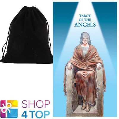 Tarot Of The Angels Deck Cards Esoteric Telling Lo Scarabeo With Velvet Bag New
