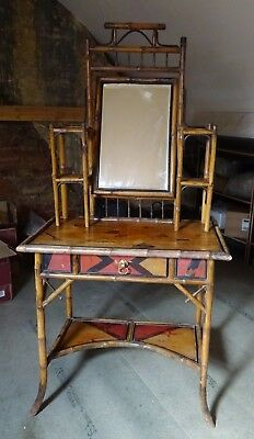 Antique Chinese Bamboo Dressing Table