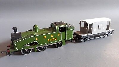 Lima Lner 0-6-0 J50 #8920 + N.e. Guards Van Good Condition Unboxed Oo Gauge(Gs)