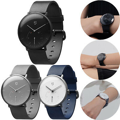 Unisex Xiaomi Mijia Leather Bluetooth Quartz Smart Watch for Android iOS System