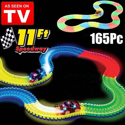US 165PCS Tracks Glow In The Dark Race 11' of Track Toy AS SEEN ON TV - NEW! MY