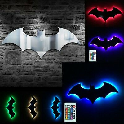 Home Decoration Remote control Batman LED Night Light 7 Color mirror-Lamp