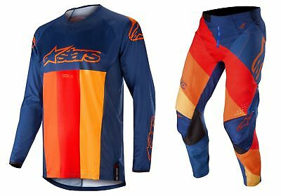 2019 Alpinestars Men's MX Gear Techstar Venom Dark Blue/Red/Tangerine