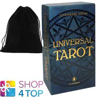 Universal Tarot Professional Edition Cards Deck Lo Scarabeo With Velvet Bag New