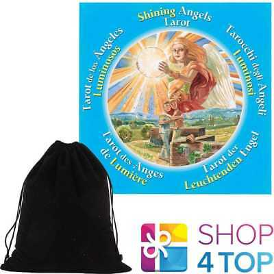 Shining Angels Tarot Round Cards Deck Esoteric Lo Scarabeo With Velvet Bag New