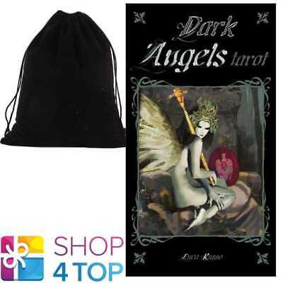 Tarot Of Dark Angels Deck Cards Russo Esoteric Lo Scarabeo With Velvet Bag New