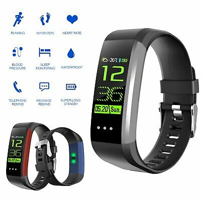 Smart Watch Blood Pressure Heart Rate Monitor Pedometer Sports Fitness Tracker