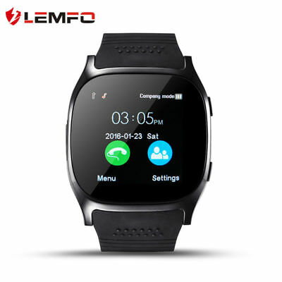 Lemfo T8 Bluetooth Smart Watch Cámara SIM TF Card Podómetro For Android Xiaomi