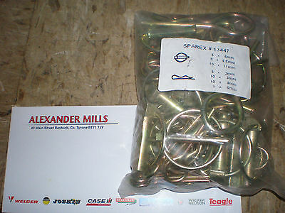 Tractor Linkage Linch Pins R Clips Assorted 50pk Tractor Plant Agri Farm Garage