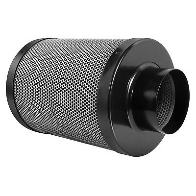Sunstream 4/6in Carbon Air Filter Odor Control Scrubber for Grow Tent Inline Fan