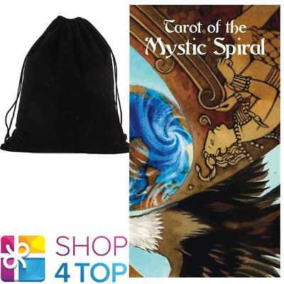 Tarot Of The Mystic Spiral Deck Cards Esoteric Lo Scarabeo With Velvet Bag New
