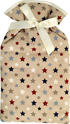 Vagabond Twinkle Stars Design Padded Cotton Cover 2 Litre Hot Water Bottle