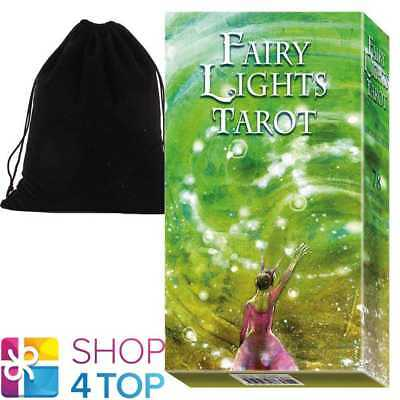Fairy Lights Tarot Deck Cards Esoteric Telling Lo Scarabeo With Velvet Bag New