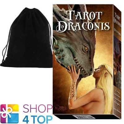 Tarot Draconis Deck Cards Corsi Lo Scarabeo Esoteric Telling With Velvet Bag New