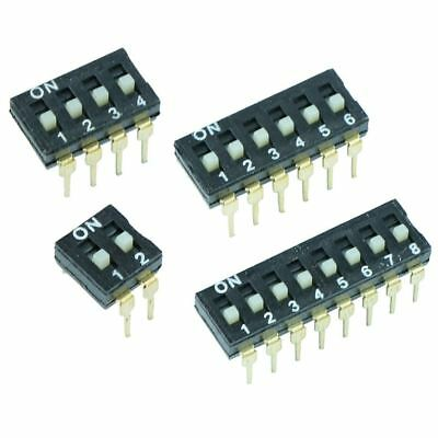 2 4 6 8 Way Low Profile DIL DIP PCB Switch
