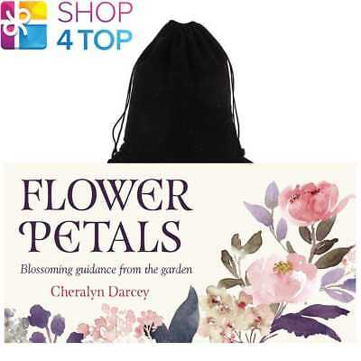 Flowers Petals Inspirational Deck Cards Us Games Systems With Velvet Bag New