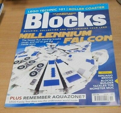 Blocks magazine AUG 2018 Building Collecting Customising Lego: Millennium Falcon