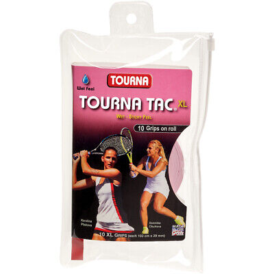 Tourna Tac XL 10 Pack Tennis Overgrip Pink - Free P&P