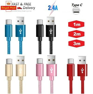 2.4A Heavyduty Braided Fast Charge USB C Type C Data Phone Charger Cable 1m2m3m