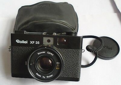 Vintage Cased Rollei X F35 Compact 35mm Camera With Sonnar Lens