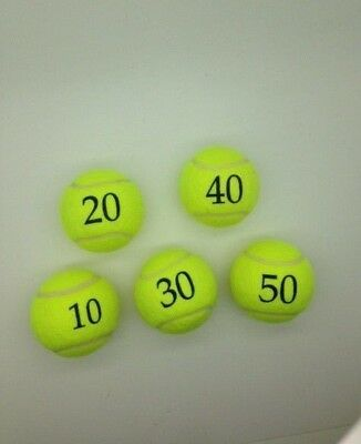 5 Printed Number Tennis Balls from Price of Bath