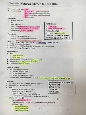 MRCOG part 2 revision notes from candidate who passed on first attempt (PDF)