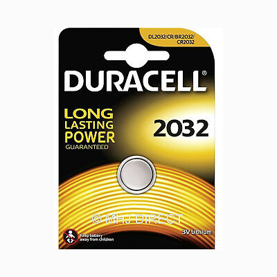 1 x Duracell CR2032 DL2032 BR2032 3v Lithium Coin Cell Battery Use By Date 2026