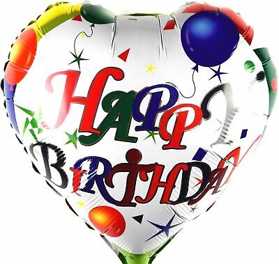 R22F10 Folienballon Geburtstag Surprise Helium heart Happy Birthday Herz balloon