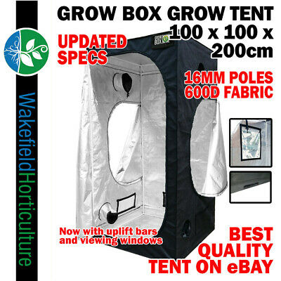 GROW BOX GROW TENT 1.2M X 1.2M X 1.8M 16MM POLES+600D FABRIC+DIAMOND DIFFUSION