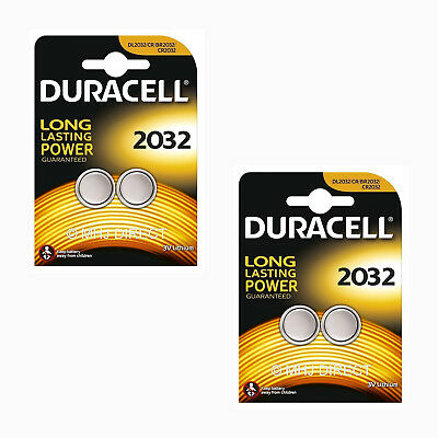 4 x Duracell CR2032 DL/BR 2032 3v Lithium Coin Cell Batteries Use By Date 2026