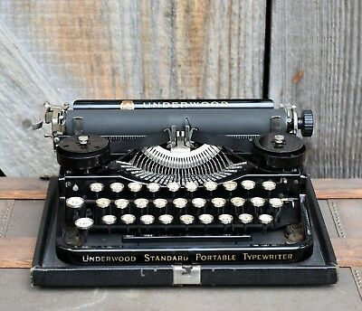 Vintage Antique Underwood Standard Portable Typewriter 1920 Wedding Gift Prop