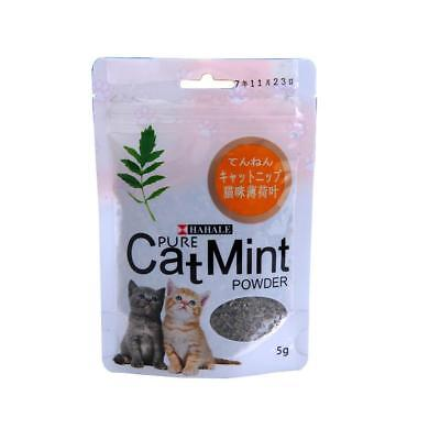 Cat Mint Natural Green Premium Catnip Menthol Flavor Cat Treats 10gr Relaxing: