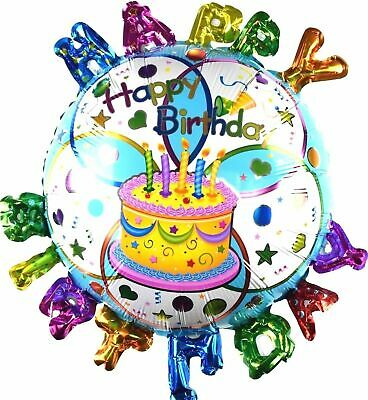 R22F17 Folienballon Geburtstag Kuchen Helium Torte Happy Birthday Cake balloon
