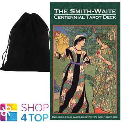 Smith-Waite Centennial Tarot Cards Esoteric Us Games Systems With Velvet Bag New