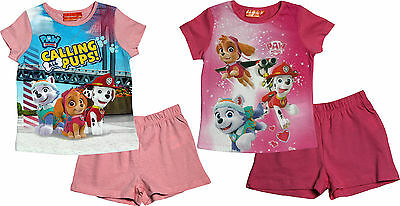 Paw Patrol Girls Calling all Pups T Shirt and Shorts Pyjama Set By BestTrend