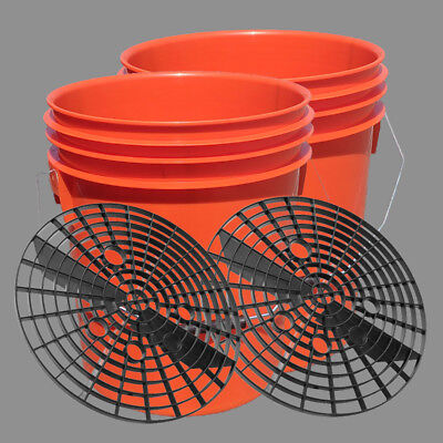 2 x 16L Car Wash/Detailing Bucket with Grit Shield