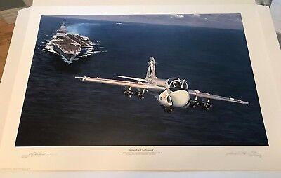William S. Phillips -  Intruder Outbound counter signed by Eugene 'Red' McDaniel