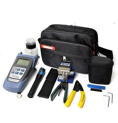 Fiber Optic FTTH Tool Kit FC-6S Cutter Fiber Cleaver Optical Power Meter set B
