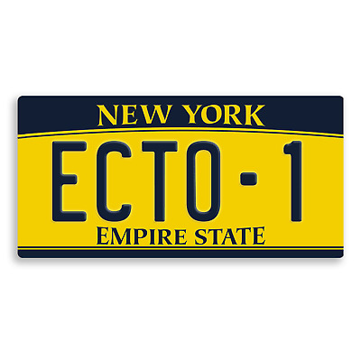 Ghostbusters Numberplate #1 - Metal Wall Plaque Art - Ecto Comedy Spooky Movie 3