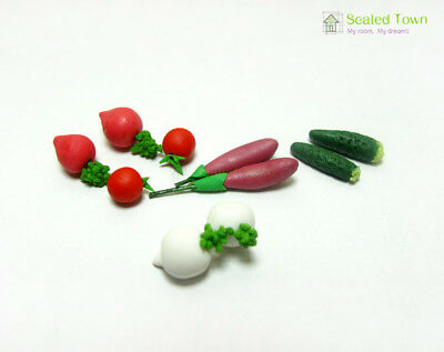 10 Dollhouse Miniature Food Vegetable Carrot Eggplant Kitchen Accessory 1:12 Toy