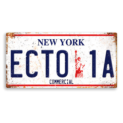 Ghostbusters Numberplate #2 - Metal Wall Plaque Art - Ecto Comedy Spooky Movie 3