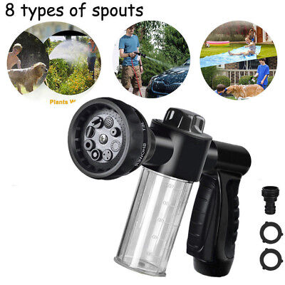 Foam Sprayer Garden Hose Nozzle Sprayer With 8 Modes For Car Pathway Pet Plant A