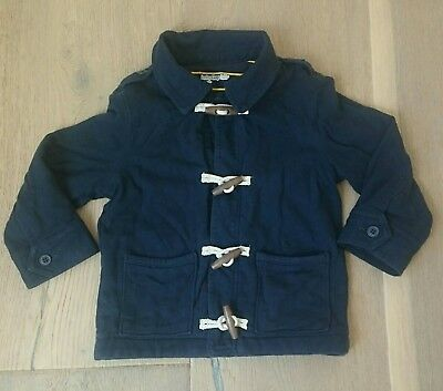 Gap Toddler Boy sz 3 Cotton Jacket Coat Sweater Sweat Shirt Toggle Navy EUC