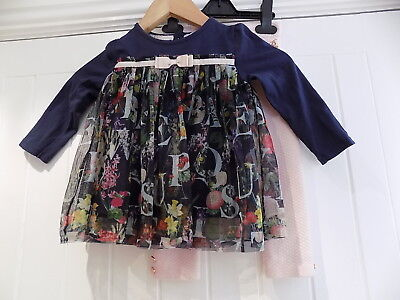 Ted Baker smock top / dress & quilted leggings size 18-24 months   da