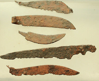 Lot of 5x Ancient Roman Iron Knife L=75-155mm